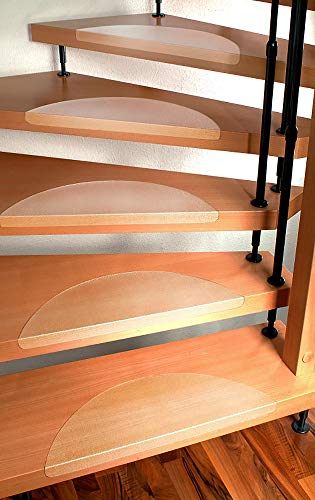 Stufenmatten Set für Treppenstufen - 15 Stück, klar - Größe nach Wahl