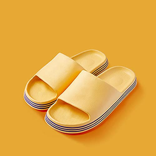 ZZLHHD Ciabatte per Massaggio ai Piedi,Fashion Leisure Couple Slippers, Anti-Skid Shock Absorption Massage slippers-38-39_Yellow,Sandali per Massaggio con Digitopressione