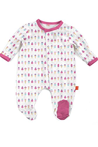 Magnetic Me Footie Pajamas Soft Modal Baby Sleepwear Quick Magnetic Fastener Sleeper Ice Cream 3-6 Months