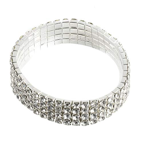ShenyKan 3/4/5 Reihen Charmante Dehnbare klare Strass Kristall Armband Braut Armreif Hochzeit Brautschmuck Armreif