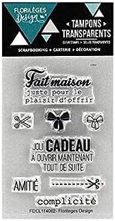 Florilèges Design FDCL114002 Scrapbooking Tampons Clear Mini Cadeau Maison, Beige