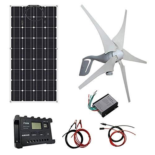 Turbina de Viento, Panel 700W Solar Wind Turbine Kit: Turbina de Viento...