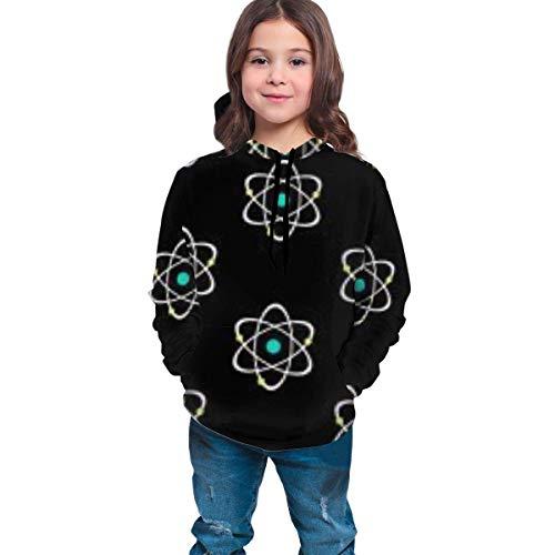 HNJZ-GS Atomic Nucleus Schwarz Lässige Pullover Hoodie Kapuzenpullover Trainingsanzüge für Jungen Mädchen Teens Junior
