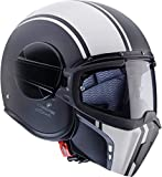 Caberg Helm JET GHOST LEGEND MATT BLACK/WHITE XXL matt black/white
