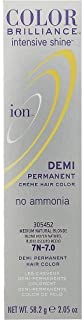 Ion Color Brilliance Intensive Shine Demi Permanent Creme 7N Medium Natural Blonde by Ion