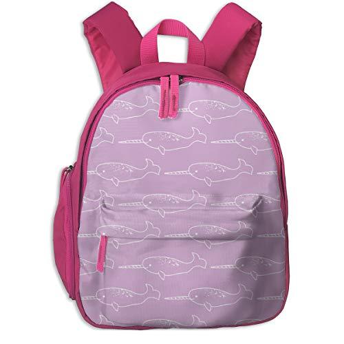 Kinderrucksack für Mädchen, Narwhal Fog_5525 - Mariah_Girl, Für Kinderschulen Oxfordstoff (pink)