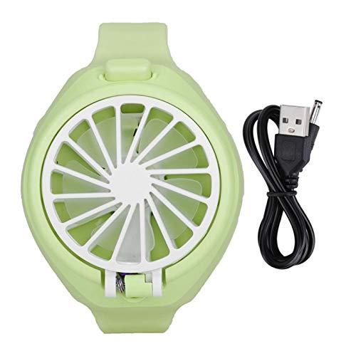 Demeras Ventilateur en Forme de Montre pour Enfants, Ventilateur Portable Mini Ventilateur en Forme de Montre pour Les Voyages d'été à la Maison en Plein air(Vert)