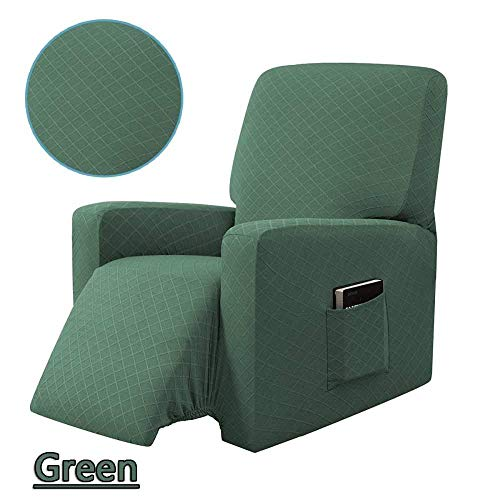 Stretch elastische fauteuil bankhoes Antislip afneembaar en wasbaar Elektrische fauteuilhoes Recliner stoelhoes-olijfgroen