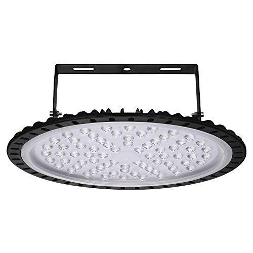 LED UFO Industrielampe, 300W LED Hallenstrahler Deckenleuchte High Bay Licht, SMD 2835 LED Flutlicht Pendelleuchten, Kaltweiß 6000-6500K, Industriebeleuchtung Werkstattlampe Von Papasbox