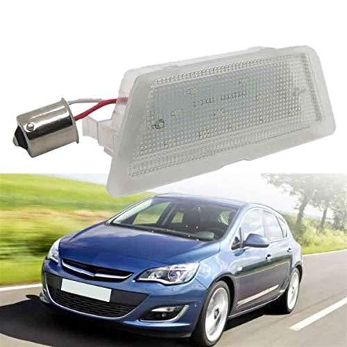 RJJ Wyfan 1x LED LED Número de matrícula Láminas de Placa Ajuste para Opel Astra G 98-04 Licencia de automóvil Light Styling (Color : White)