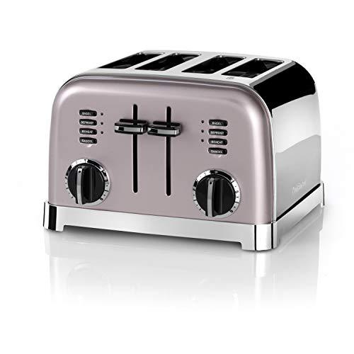 Cuisinart CPT180PIE Tostadora de 4 Ranuras Anchas para Todo Tipo de Pan, 6 Niveles de Tostado, 1800W, Función Bagel, Descongelar y Recalentar, Rejilla de Centrado Automático, Palanca de Elevación