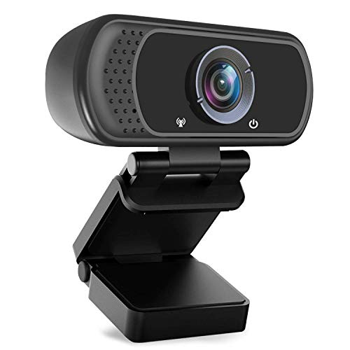 HD Webcam 1080P with Microphone, PC Laptop Desktop USB Webcams, Pro Streaming Computer Camera for...