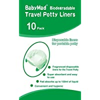 Travel Potty Liners Disposable (Pack of 10) - ECO Friendly Biodegradeable - Use Liner with Babyway & Other Leading…