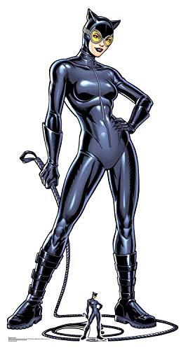Star Cutouts SC1456 Catwoman mit Peitsche, lebensgroßer Pappaufsteller mit gratis Mini-Ausschnitt, Höhe 179cm, mehrfarbig