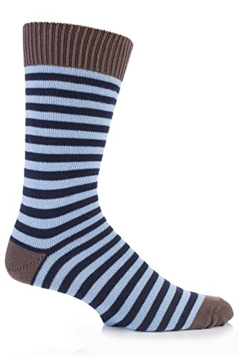 J. Alex Swift Hommes 1 Paire ray� 80% coton Chaussettes 7-11 Mens Bronze/Harebell/Marine