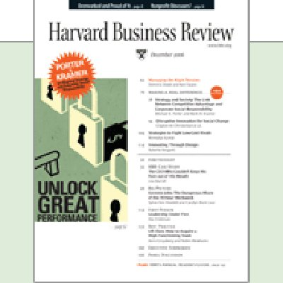 Harvard Business Review, December 2006 copertina