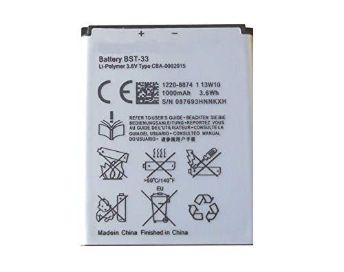Bateria Compatible con Sony Ericsson BST-33 J100i,K800,K810i,V800,W850i,W900i,W950i,P990i,M600i, Z536,Z610i,Z750i,Z800i,W100,W302,Z750,Z800