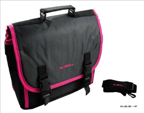 Nieuwe zwart & Hot roze Trim Messenger stijl tas 4 Samsung Galaxy 8.9 Tablet