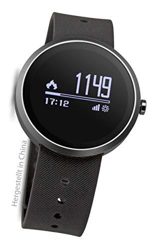 Swisstone SW 550 HR Fitnessarmband (Smart-Wearable, Bluetooth Funktion, kompatibel mit handelsüblichen Uhrenarmbändern) schwarz
