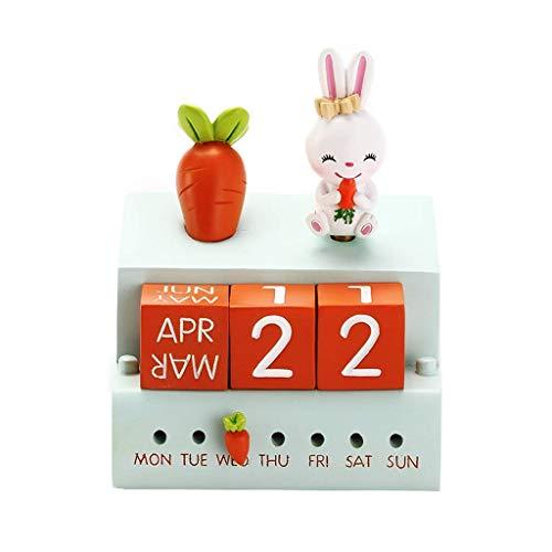 ZHBH Caja de música Caja de música de Madera 18, Conejo Lindo es un Interruptor de música, con Calendario, Decoración de la habitación de los niños