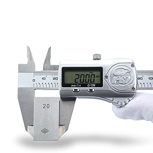 GYAM Calibrador Digital, calibrador Digital electrónico de Acero Inoxidable, 0-150/200/300 mm con Pantalla LCD, Herramienta precisa de calibrador Vernier,300