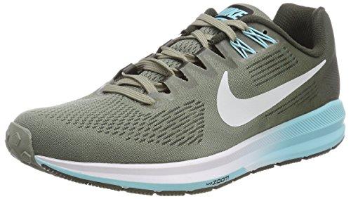 Nike W Air Zoom Structure 21, Zapatillas de Running para Mujer, Gris (Dark Stucco Pure Platinumsequ 003), 35.5 EU