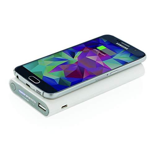 LOOOQS Backup-Batterie 8000mAh Typ C und Induktion 5W weiß