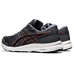 ASICS Men's Gel-Contend 7 Running Shoes, 11, Carrier Grey/Classic RED