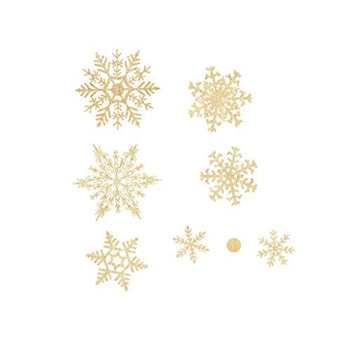 WARMWORD Pegatinas de Navidad Copos Nieve Pared calcomanías Ventanas escaparate Tienda decoración...