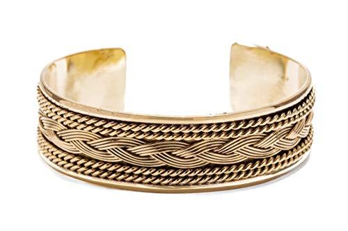 WINDALF Breiter Handmade Armreif FALK 19 mm Vikings Freundschafts Wikingerschmuck Celtic Schmuck Vintage Bronze