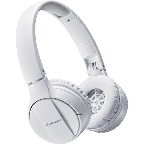 Pioneer SE-MJ553BT-W - Auriculares inalámbricos Bluetooth externos para smartphones Android, Windows y Apple, estéreo, con micrófono, 10 Hz a 22000 Hz, Blanco