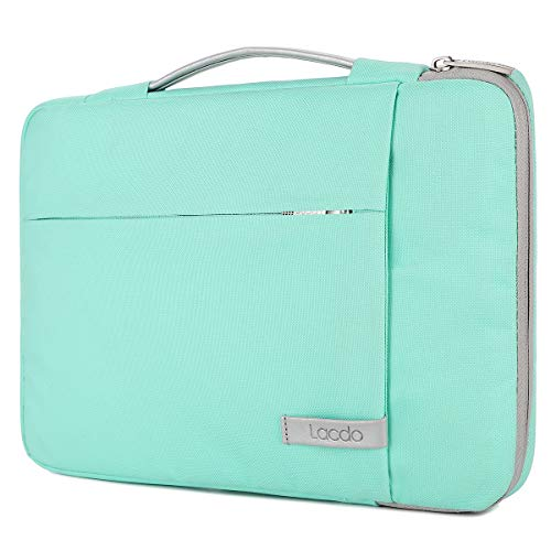 Lacdo 360° Protective 14 Inch Laptop Sleeve Computer Case Portable Bag for Dell Inspiron 14 5481 / HP Stream 14' / Acer Spin 3 / ASUS L402YA / HP Acer Chromebook 14, S330 / Flex 14 Notebook, Green