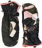 Roxy Roxy Jetty - Manoplas para Esquí/Snowboard para Chicas Manoplas para Snowboard/Esquí, Mujer, Living Coral Plumes, M