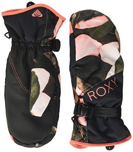 Roxy Damen Jetty-Ski-/Snowboardfäustlinge für Frauen, Living Coral Plumes, M