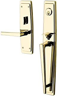 Baldwin 6921.RENT Palm Springs Right Handed Single Cylinder Keyed Entry Full Pla, Vintage Brass