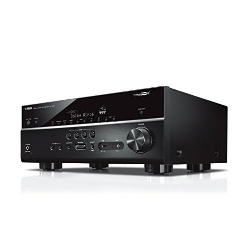 Yamaha RX-V685 Sintoamplificatore MusicCast multicanale – Ricevitore AV 7.2, 90 W per canale su 6 Ohm, supporto 4K, Cinema DSP e Dolby Atmos – WiFi dual band integrato, Bluetooth, USB, Nero