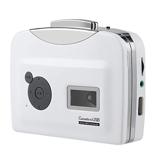 Draagbare cassette naar mp3-converter muziekspeler met USB-stick voor audio-opname, ondersteuning voor aansluiting op computer, MP3-speler, draagbare luidspreker.
