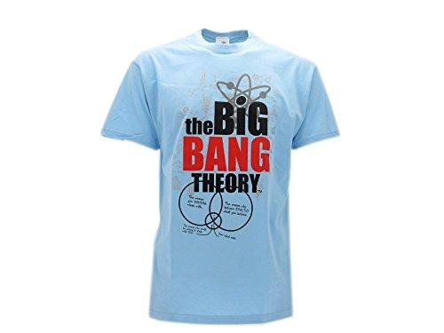 T-Shirt Originale Big Bang Theory Prodotto Ufficiale Azzurra (9-11 Anni)