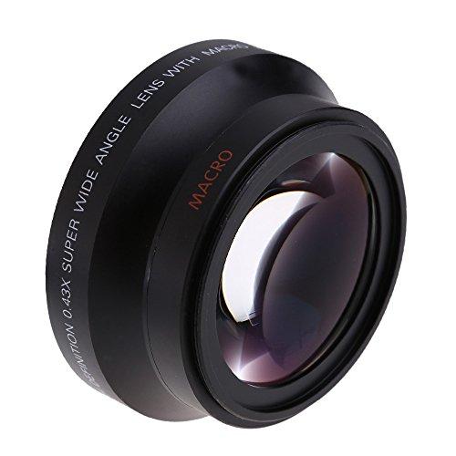 Andoer® Lente de alta definición digital de 67mm 0,43xSuPer angulo amplio con macro Japan Optics para Canon Rebel T5i T4i T3i 18, 135mm 17, 85mm y Nikon 18, 10570, 300VR