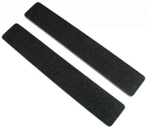 Premium Black 80/80 (Blu Ctr) 1-1/8 Wide Washable Jumbo Nail File 50 Pack by Nail File Guru