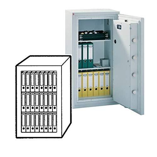 Sistec Wertschutzschrank SE 4 120/1 KB, Elektronisches Tastenschloss SECU SELO B + Mechanisches Zahlenkombinationsschloss, Grad 4KB nach EN 1143-1, H120xB82.5xT70 cm, 980 kg