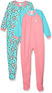 Image of Fleece Fun Bunny Rabbit Footed Sleepers for Toddler Girls - See More