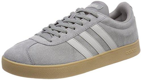 adidas Herren VL Court 2.0 Gymnastikschuhe, Grau (Grey Three F17/grey Two F17/gum4 Grey Three F17/grey Two F17/gum4), 44 EU