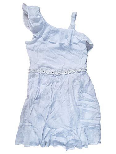 Amy's Closet Girls White Bling Flower Ruffled Lightweight Layered Summer Dress 16