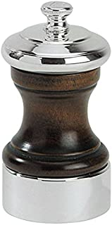 Peugeot 19587 Palace 4 Inch Silver Plated Salt Mill, Antique Brown