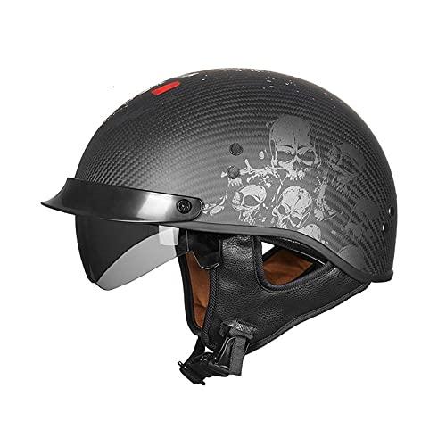 Cascos Half Helmet Medio casco casco casco abierto casco facial vintage casco de motocicleta punto / ece certificado por crucero helicóptero helicóptero helicóptero Piloto casco abierto casco pedal mo