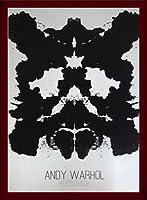 ポスター アンディ ウォーホル ロールシャッハ 1984 額装品 ウッドベーシックフレーム(ブラウン)