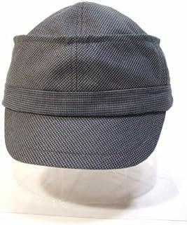 telco帽子 アイマスクつきキャップ 千鳥格子グレー サイズ58