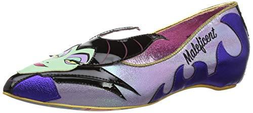 Irregular Choice Women Dark Vs. Light Closed Toe Ballet Flats, Purple...