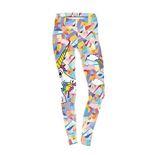 MAOYYMYJK Pantalones De Yoga para Mujer Womens Yoga Pants Leggings Slim De Unicornio